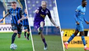 Raphael Holzhauser (Beerschot), Noa Lang (Club Brugge) en Paul Onuachu (KRC Genk) strijden om prijs Profvoetballer van het Jaar