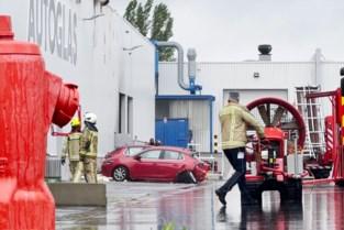 Uitslaande brand bij Autoglas