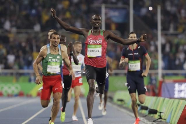 David Rudisha, titelverdediger op de 800m, geeft verstek voor de Olympische Spelen
