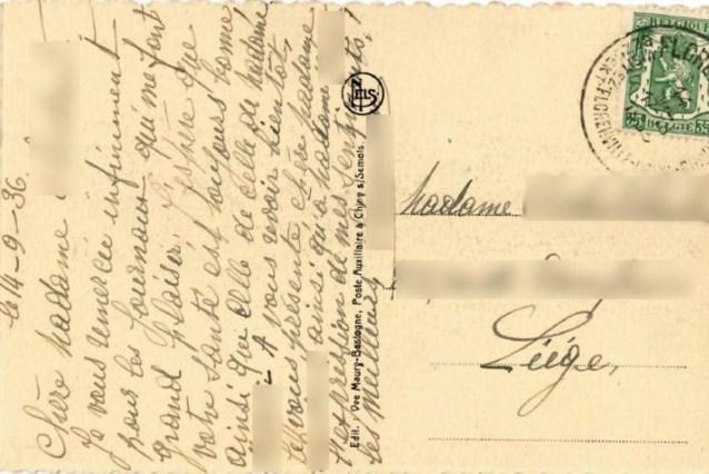 Kaart uit 1936 duikt plots weer op in het postkantoor