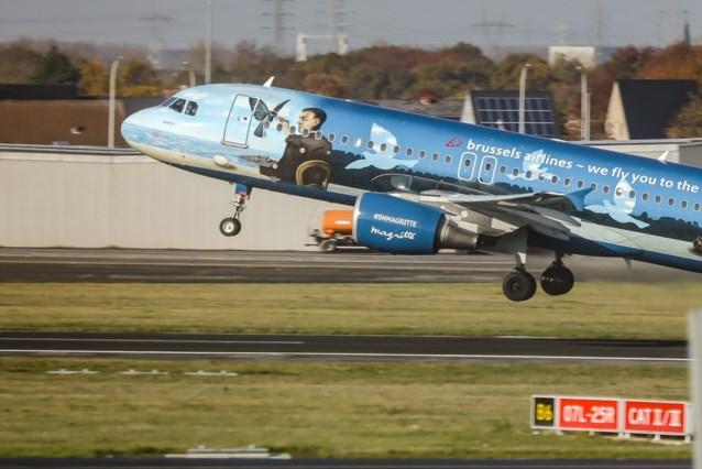 Magritte-vliegtuig uit vloot van Brussels Airlines overschilderd