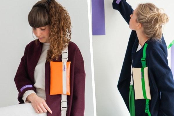 Nooit meer uw handtas kwijt: Lise (30) ontwerpt jas, mét een handtas eraan