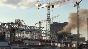 Even paniek in Madrid: stadion van Real vat vuur