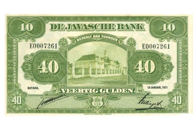 Bankbiljet van 40 gulden uit Nederlands-Indië levert ruim 25.000 euro op