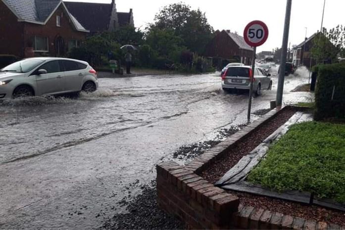 Wolkbreuk zorgt voor wateroverlast in Boortmeerbeek