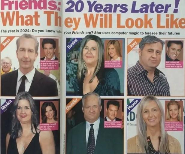 Magazine sloeg de bal twintig jaar geleden helemaal mis over hoe acteurs uit 'Friends' er nu zouden uitzien