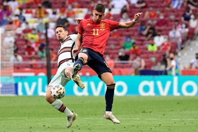 Spanje en Portugal houden elkaar in intense oefenmatch voor EURO 2020 op gelijkspel, winning goal spat uiteen op de deklat