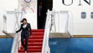 """Vliegtuig Kamala Harris moet rechtsomkeer maken na technisch probleem: """"We hebben allemaal gebeden, maar het gaat goed"""""""