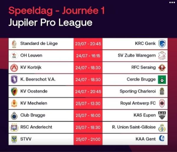 Het EK moet nog beginnen en daar is de nieuwe competitiekalender al: topper op speeldag 1 en al uitgestelde match