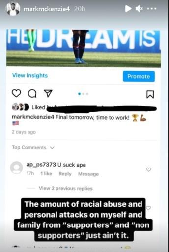 """Genk-speler Mark McKenzie slachtoffer van racisme na bewogen finale: """"Het was niet mijn beste match, maar dit is niet oké"""""""
