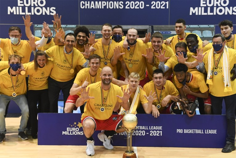 The expected basketball champion: Filou Oostende takes tenth title in a row