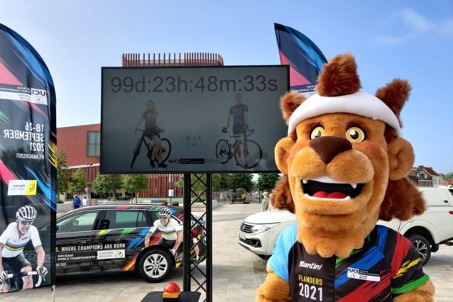 """Aftelklok om laatste 100 dagen af te tellen voor WK wielrennen in Vlaanderen: """"Overtuigd dat het met publiek zal kunnen"""""""