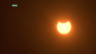 Cosmodrome in Genk laat mensen meegenieten van zonsverduistering