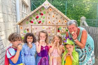 Omi maakt peperkoeken huis voor kleinzoon Luiz (6): 20 kilo snoep en zelfs aan de mieren is gedacht