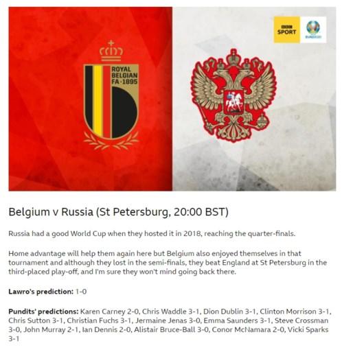 """Buitenlandse media hebben vertrouwen in zege Rode Duivels tegen Rusland: """"België wint gemakkelijk, Lukaku wordt topschutter"""""""
