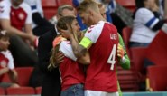 De held van de avond: Simon Kjaer greep als eerste in toen Christian Eriksen in elkaar zakte en troostte vriendin