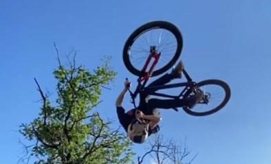 Zon, een zelfgemaakt bergje en Thomas Genon: meer is er niet nodig voor een fantastisch Belgisch trucje op de fiets