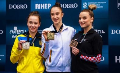 """Nina Derwael pakt bij terugkeer meteen twee gouden medailles: """"Nog zes weken om alles te perfectioneren"""""""