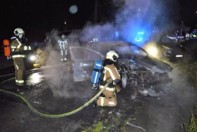 Verwoestende brand herleidt auto tot schroot