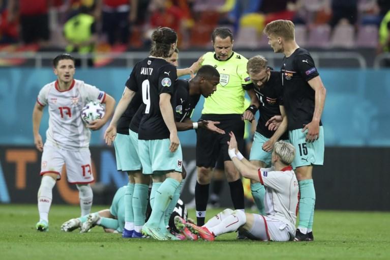 Oostenrijk boekt allereerste zege ooit op een EK tegen verdienstelijk Noord-Macedonië, waar Goran Pandev goaltje meepikt