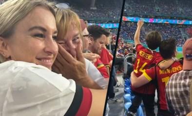"""Zo intens beleefde de familie van Dries Mertens België-Rusland op het EK: """"Ik weet niet waarom ik ween"""""""