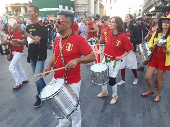 Overwinning Rode Duivels stevig gevierd: veel volk op Brusselse pleinen