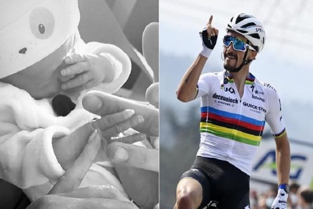 """Julian Alaphilippe is voor de eerste keer vader geworden: """"Ik hou zoveel van jou"""""""