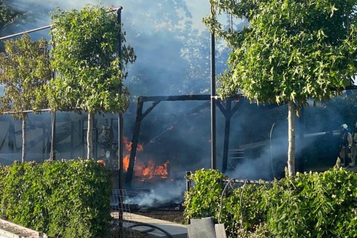 Tuinhuis met buitenkeuken gaat volledig in vlammen op
