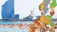 Catalonië en Thailand kleuren opnieuw rood op kaart reisbestemmingen