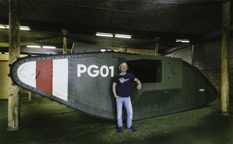 Oorlog in Gent! Paintball Gent bouwt tank uit Eerste Wereldoorlog na