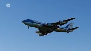 Daar is Air Force One: regiogenoten leggen vast hoe Joe Biden over hun tuin scheert