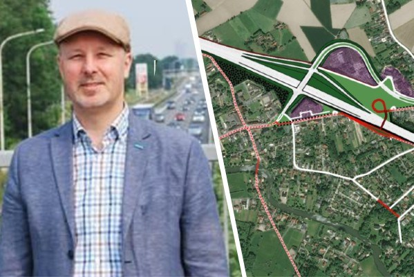 """Baarle-Drongen ongerust over nieuwe plannen afrittencomplex E40: """"Onze vrees is bevestigd"""""""