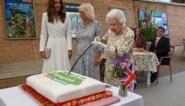 Britse Queen is vastbesloten om taart met zwaard te snijden