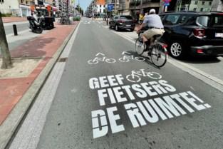 Pictogrammen die fietsers moeten beschermen verschijnen in Lippenslaan