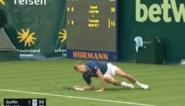 Alweer brute pech: David Goffin glijdt pijnlijk uit op gras en moet geblesseerd opgeven