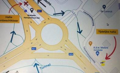Tijdelijke bushalte Kampenhout-Sas richting Haacht