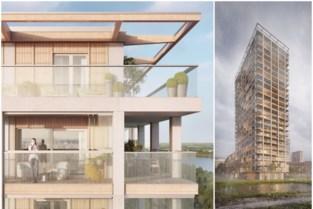 Zo zal de houten BAN-toren op Nieuw Zuid eruitzien