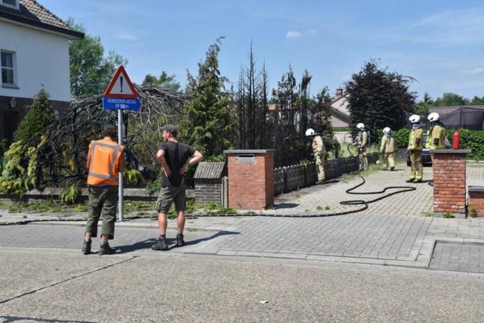 Tuin in Kiewit schiet in brand bij wegbranden van onkruid