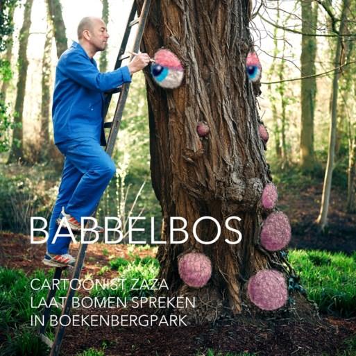Boekenbergpark wordt babbelbos dankzij tekenwerk van Zaza
