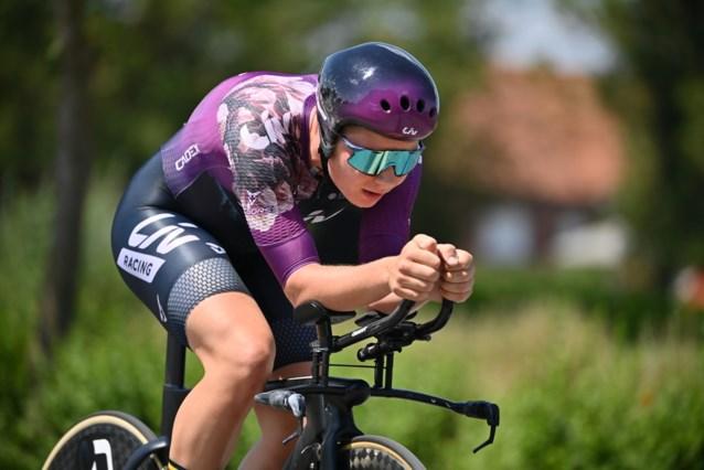 Lotte Kopecky wint voor het derde jaar op rij het BK tijdrijden bij de vrouwen