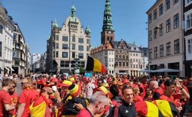 """Eerste keer echt Belgische voetbalsfeer sinds corona in Kopenhagen: """"Here's to you Christian Eriksen"""""""