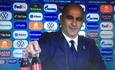 """Roberto Martinez en Romelu Lukaku grappen over saga rond colaflesjes op EK: """"De Rode Duivels houden van Coca-Cola"""""""