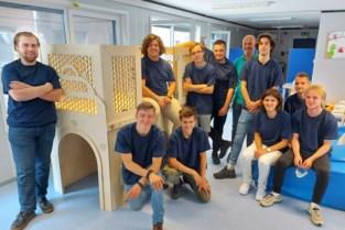 Leerlingen VTI maken speelbox voor De Pallieterkes