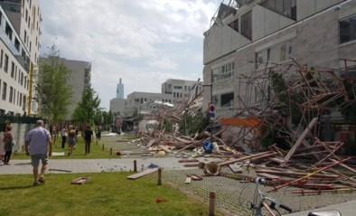 Stelling ingestort op Nieuw Zuid: medisch rampenplan afgekondigd