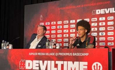 RODE DUIVELS LIVE. Bondscoach Martinez en Axel Witsel tekenen present voor persconferentie