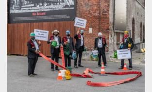 Aalsterse Draeckenieren richten brandwacht op ter bescherming van Ros Beiaard tijdens schietoefening