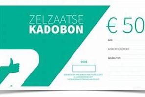 Kadobon is vijf euro meer waard