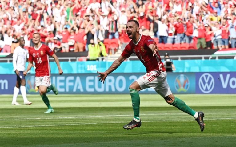Topfavoriet Frankrijk blijft steken op 1-1 gelijkspel tegen uitgekookt Hongarije, 60.000 supporters vieren feest