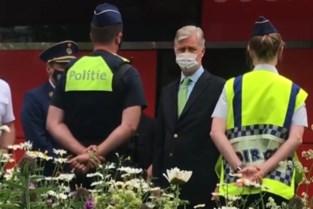Koning Filip en premier De Croo bezoeken ingestorte basisschool in Antwerpen