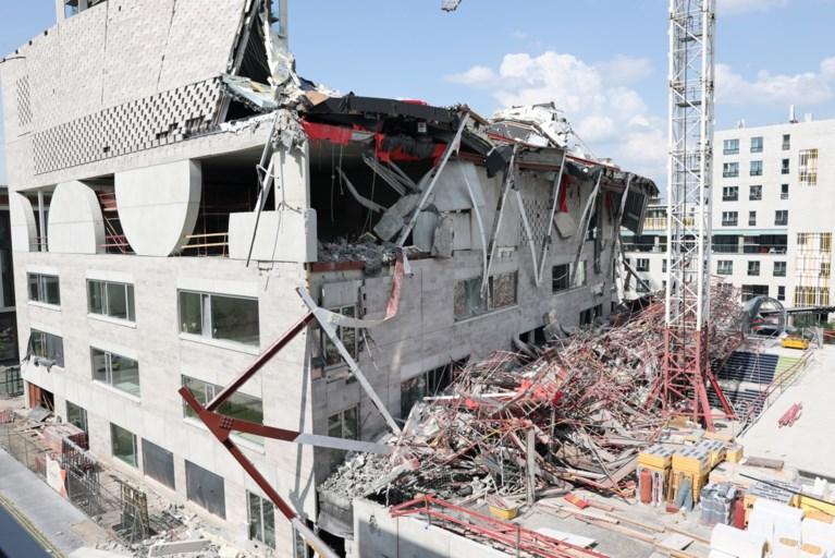 Instorting Antwerpse nieuwbouwschool: met belichting en kraanwerk gaat zoekactie naar vermisten 's nachts verder